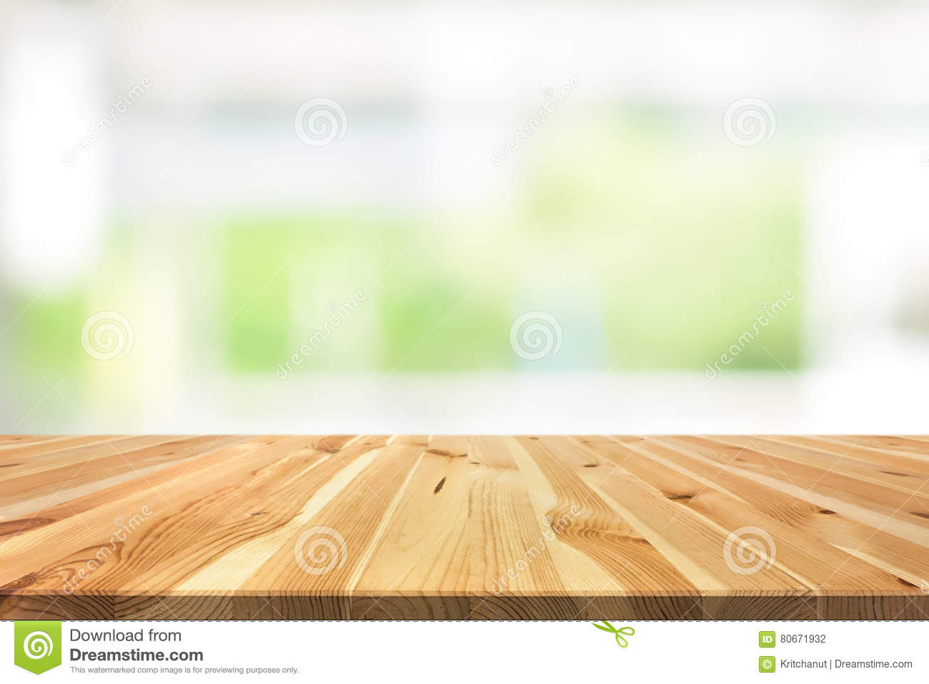table top background blurred wood table top on blur white green background from kitchen windo table top on blur white green background from kitchen windo