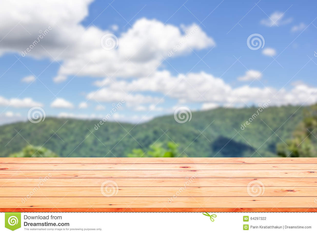 table top background metal wood table top on blurred background of landscape table top on blurred background of landscape stock photo