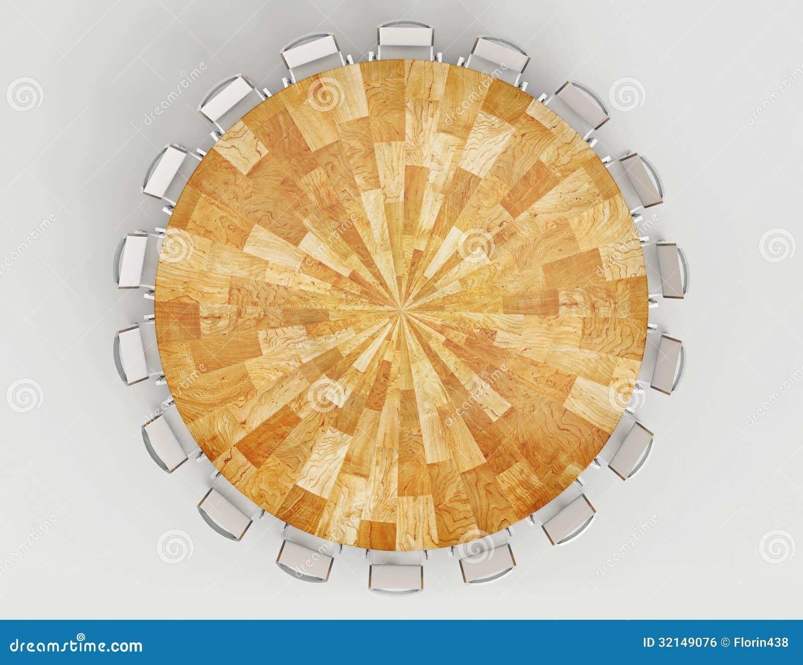 Meeting Wood Table Stock Illustration Illustration Of