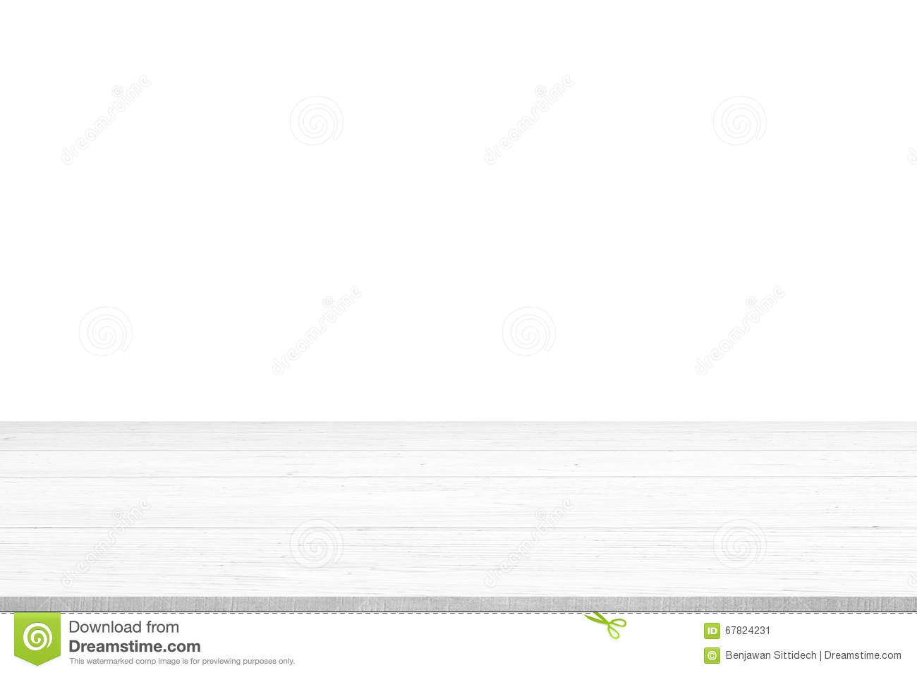 White Wood Table Top Panel Isolated On White Background Use For