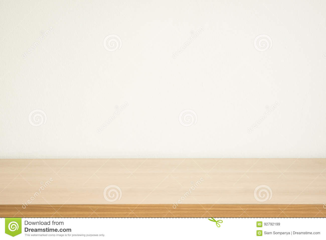 Wood table and wall background