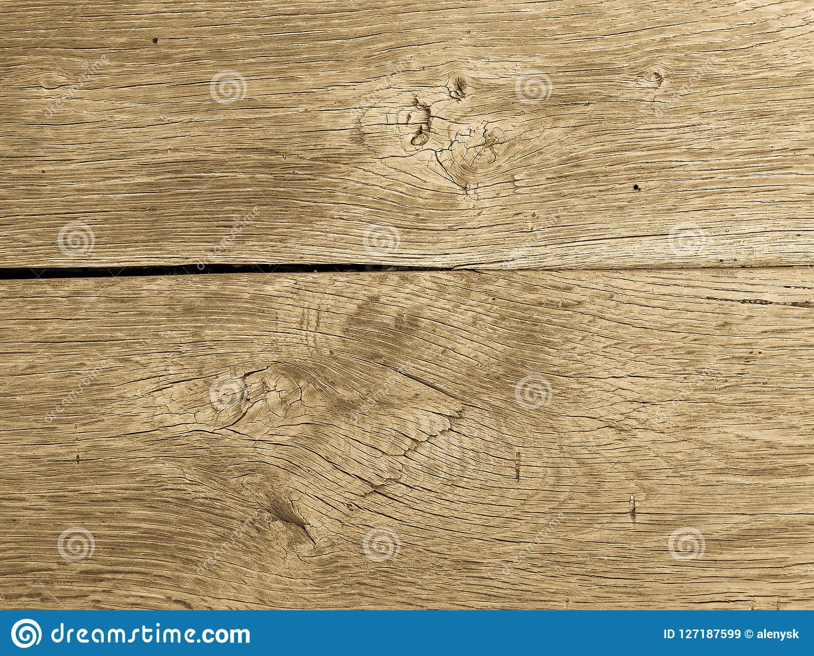 Wood And Crack Cement Background Stock Image