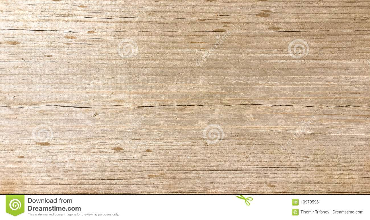 Wood texture background, natural wooden planks. Grunge washed wood table pattern top view.
