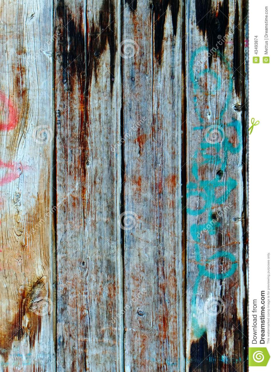 Wood Texture Background Stylish Aged Colors Stock Photo