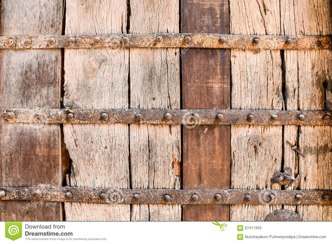 Wood Texture With Metal Brace Stock Image Image Of Sign