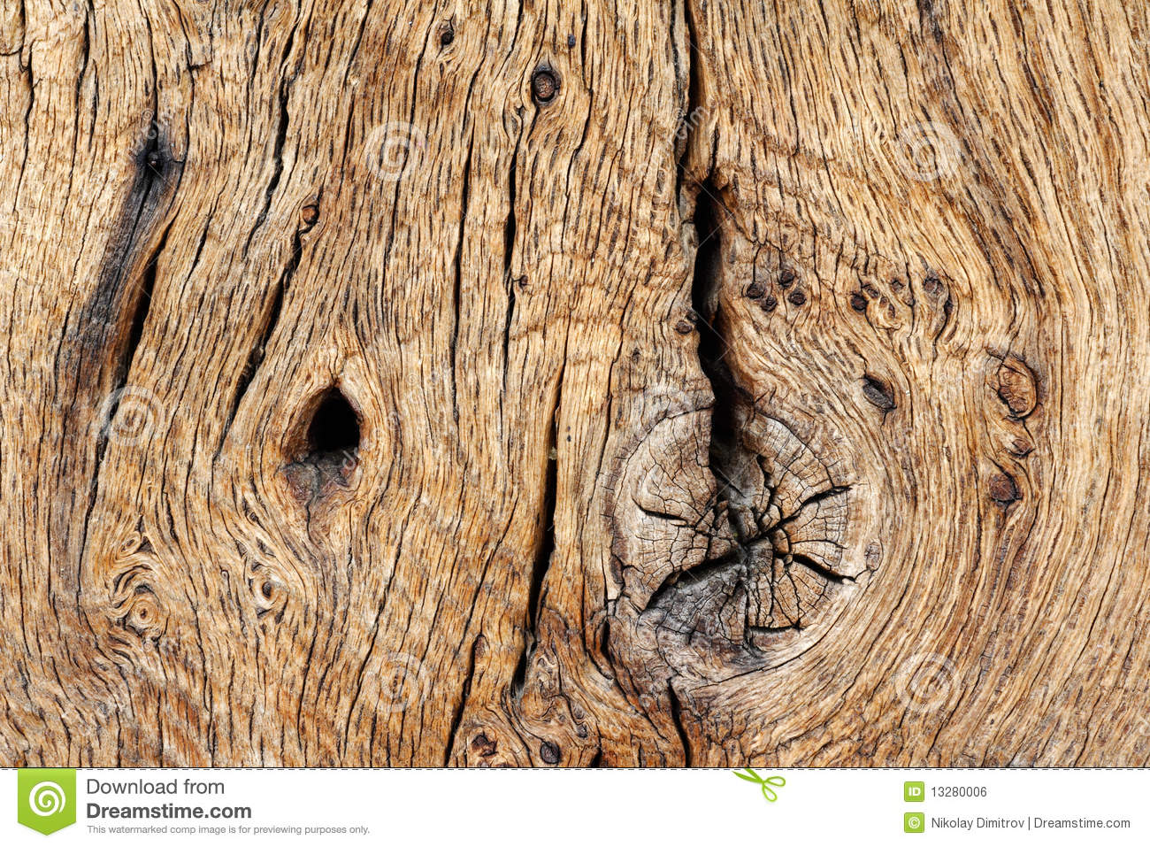 Wood Texture Of Old Oak Timber Royalty Free Stock Image