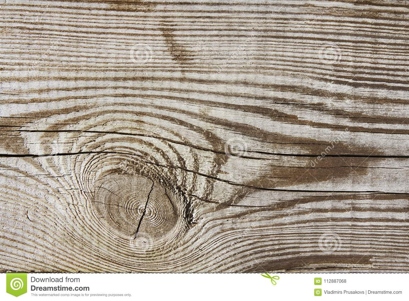 Wood texture plank grain timber background, wooden desk knot