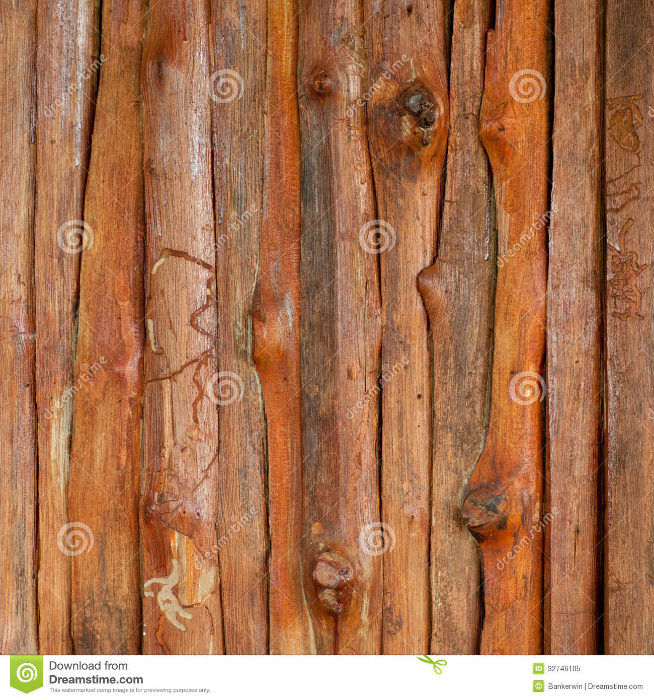 Wood Texture Wall. Background Old Board Panels Royalty