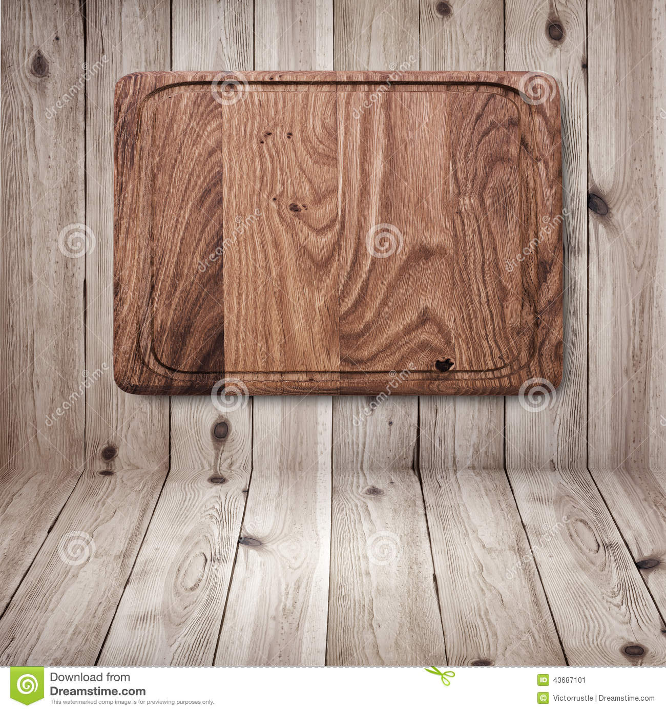 Wood Texture. Wooden Kitchen Cutting Board Close Stock