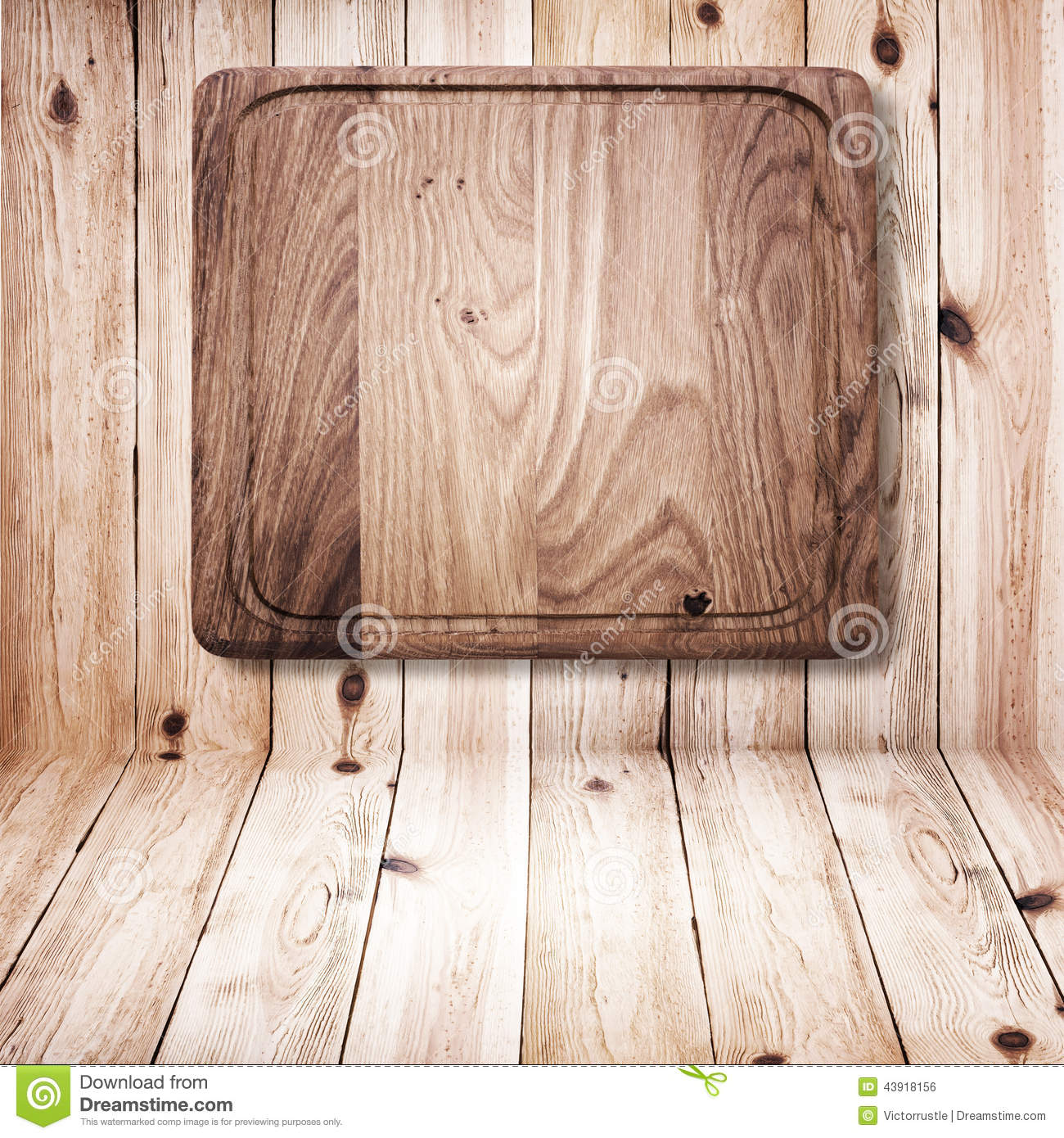 Wood Texture. Wooden Kitchen Cutting Board Close Up. Stock