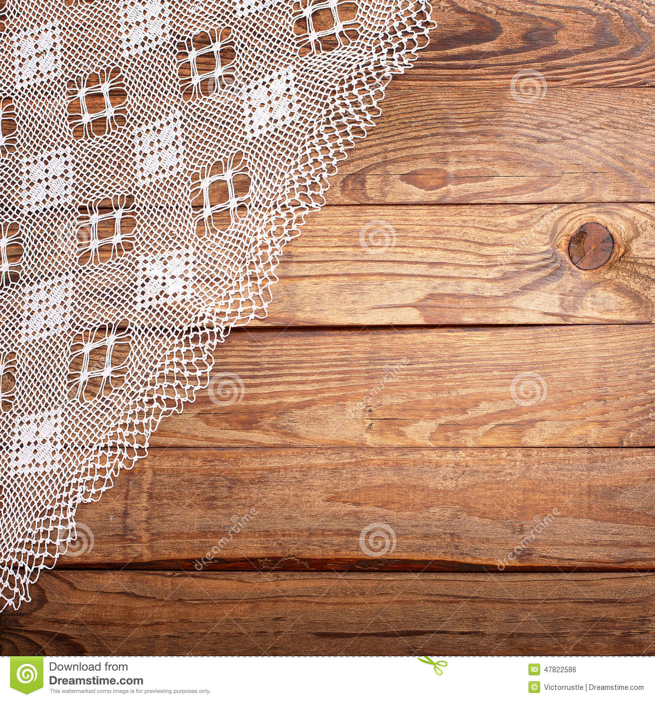 Wood table top texture - Wood Texture Wooden Table With White Lace Tablecloth Top View Royalty Free Stock Image
