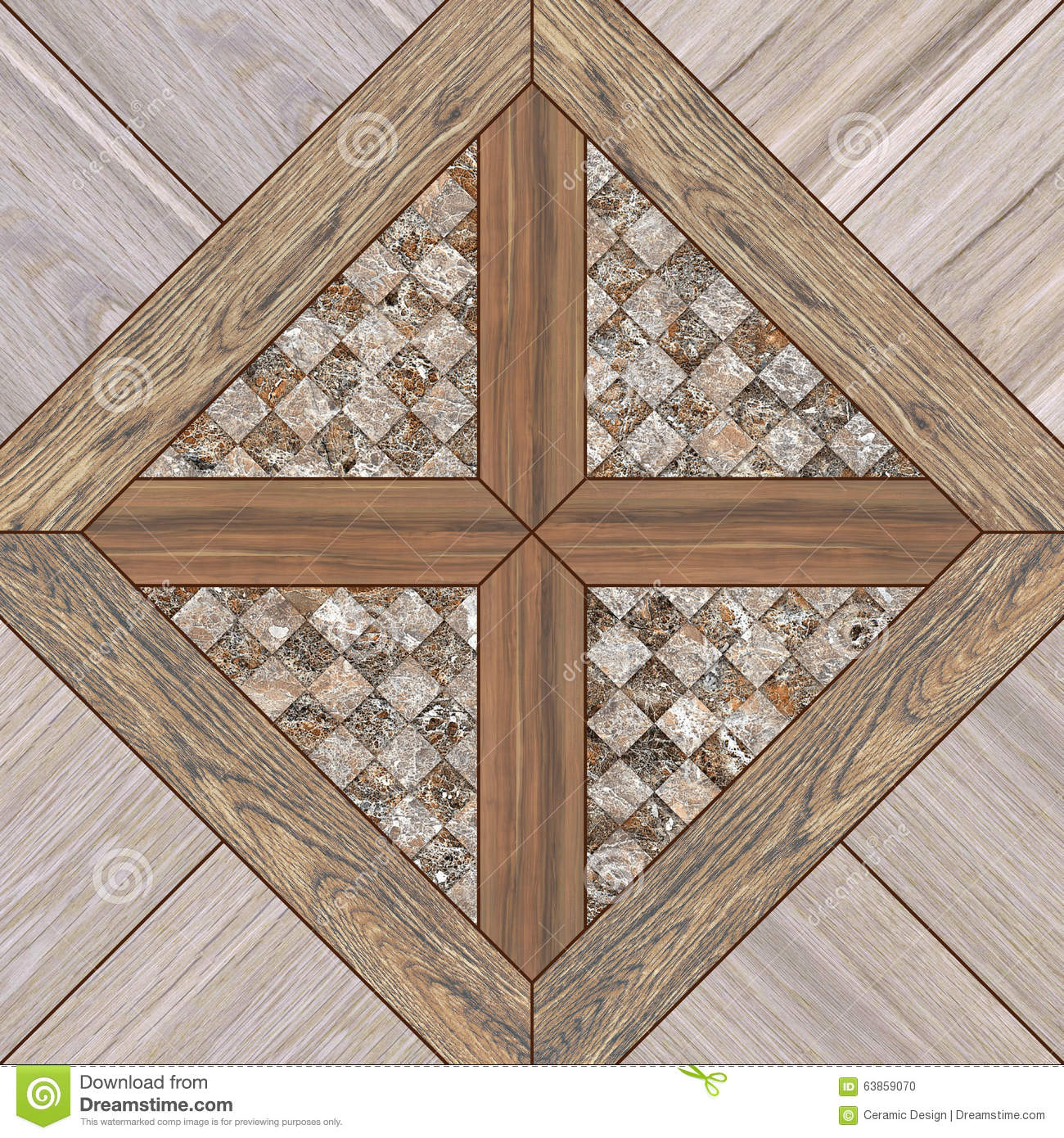 Wood Tile Floor Texture Background Stock Illustration Image 63859070