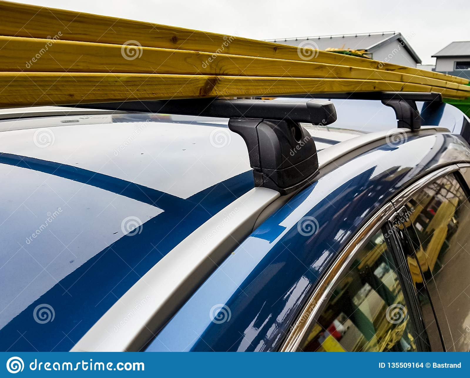 Timber For Construction And Repair Loaded On The Top Of A