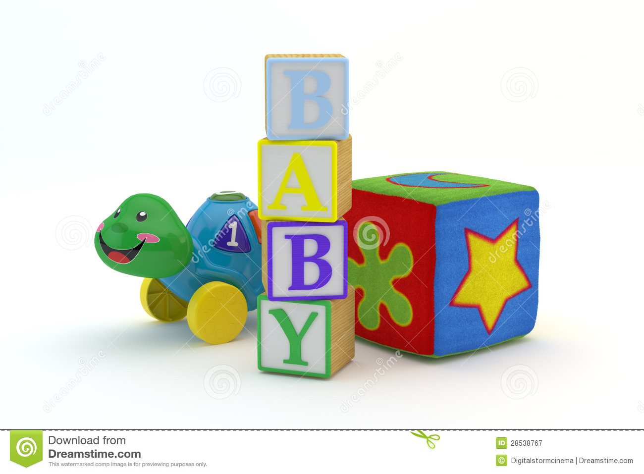 Baby Blocks Toys : Wood toy blocks spelling baby royalty free stock