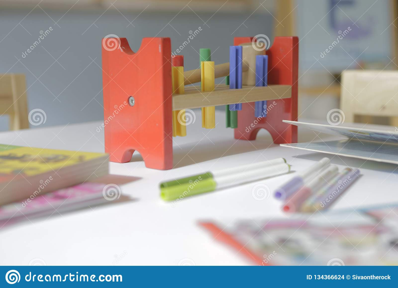 Wood Toy In The Peg Design Stock Photo Image Of Game 134366624
