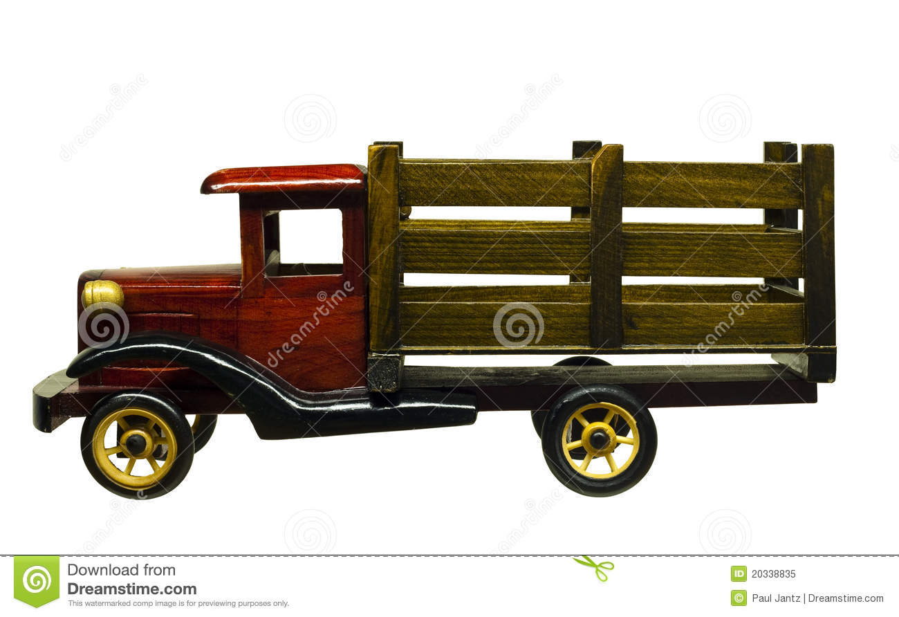 Wood Toy Truck Royalty Free Stock Photo - Image: 20338835