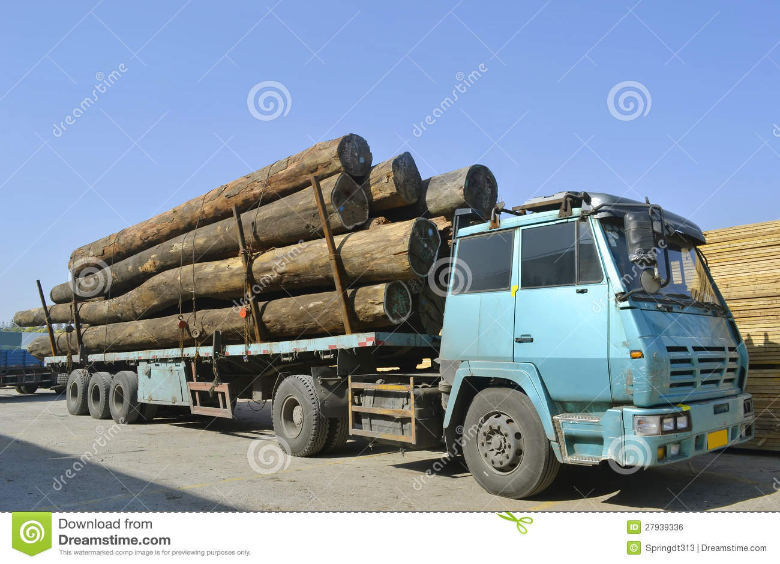 Wood Transportation Truck Royalty Free Stock Image - Image: 27939336