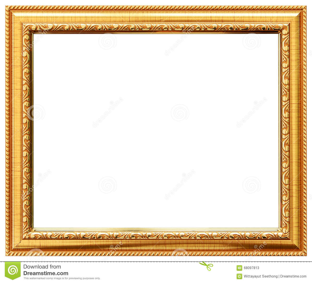 Wood Vintage Frame Wood Frame Simple Design Stock Image