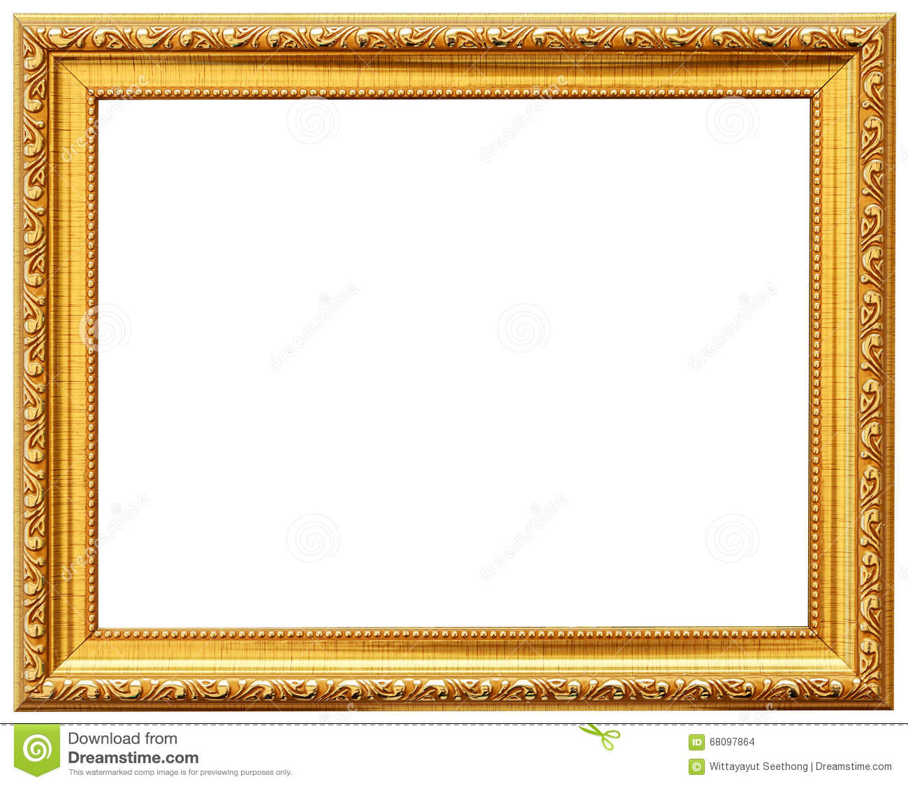 Wood Vintage Frame. Wood Frame Simple Design. Stock Photo - Image of ...
