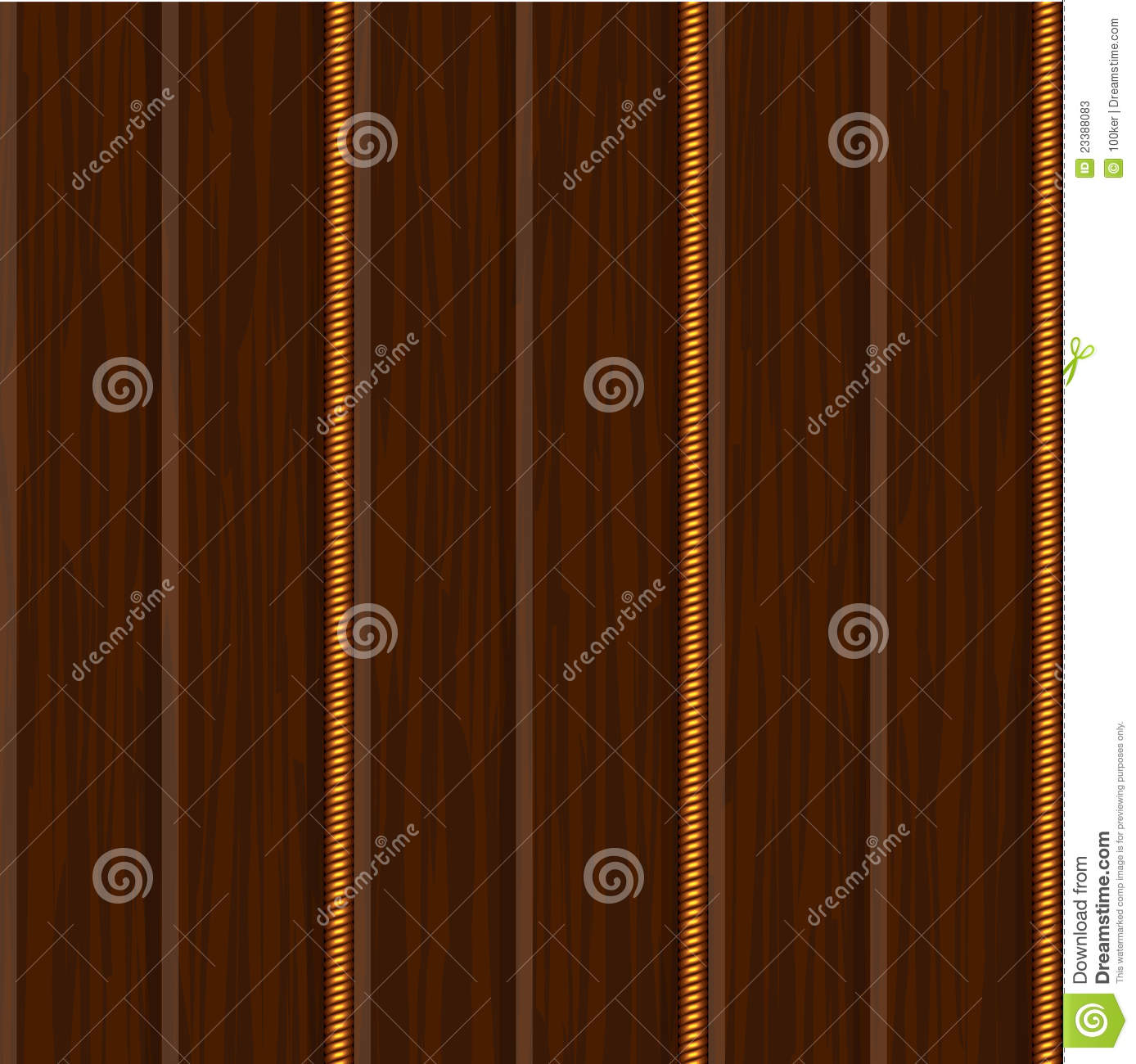 Wood Wall Panel Texture With Gold Stock Vector Image