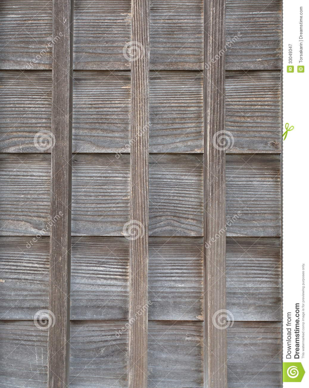 Wall Of Old Japanese House Stock Image