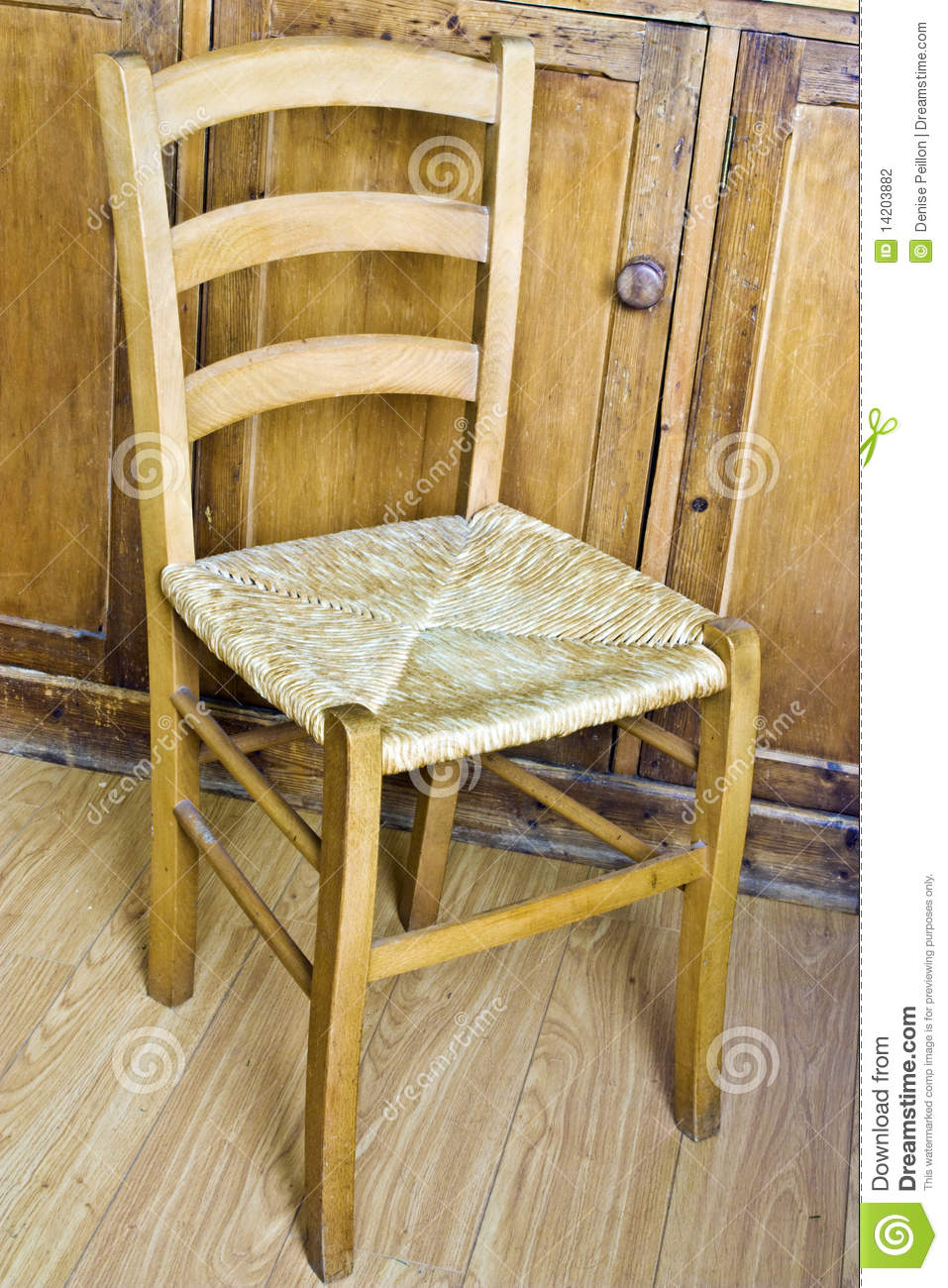 A simple wooden and wicker kitchen chair set in s rustic kitchen & Wood and wicker chair stock photo. Image of wicker wood - 14203882