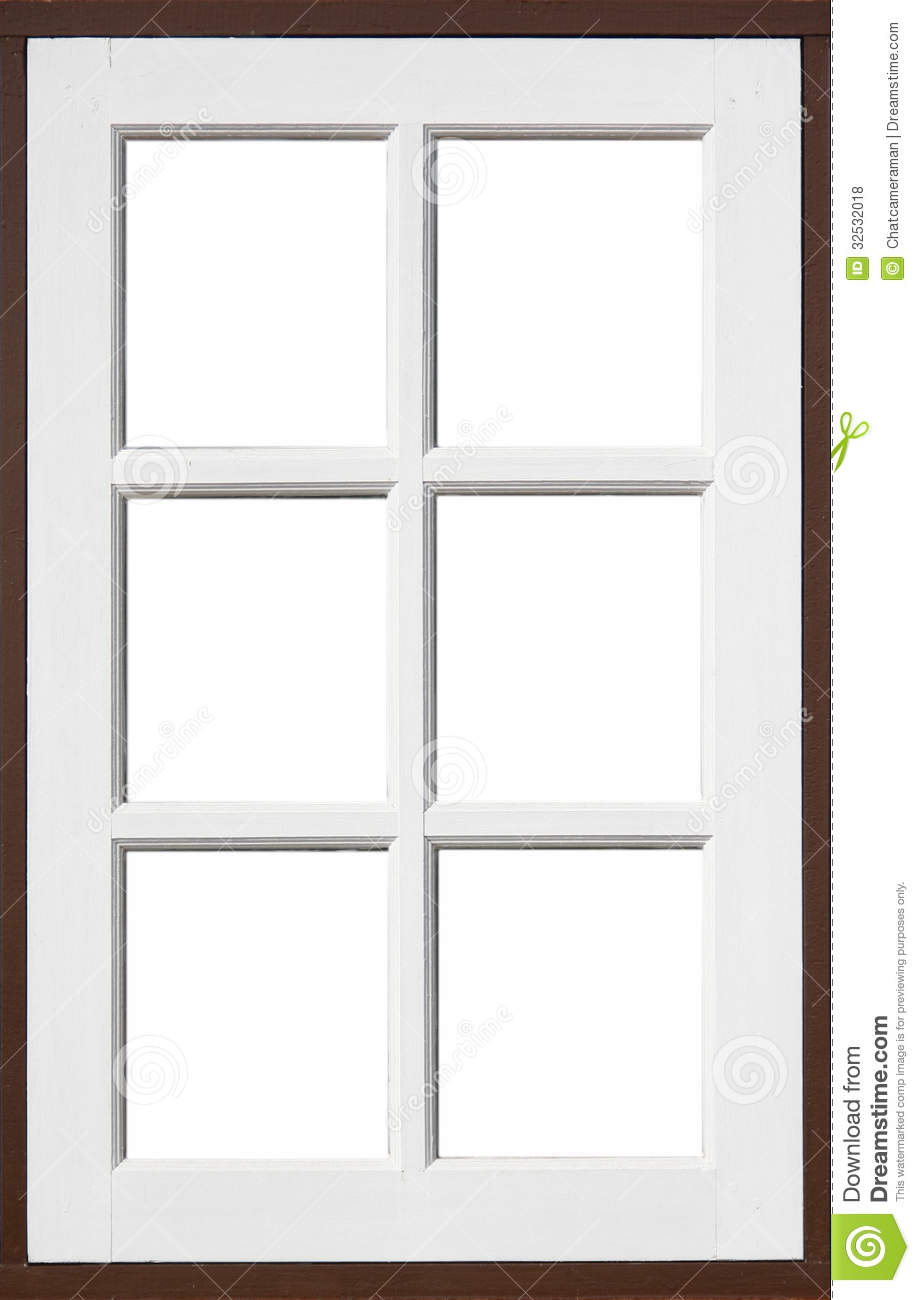 Wood Window Frames : Wood window with white and brownd color stock photo