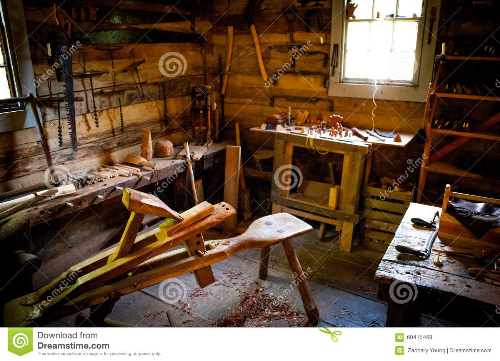 Enjoyable Wood Work Bench Stock Photo Image Of Cabin Carpenter Beatyapartments Chair Design Images Beatyapartmentscom