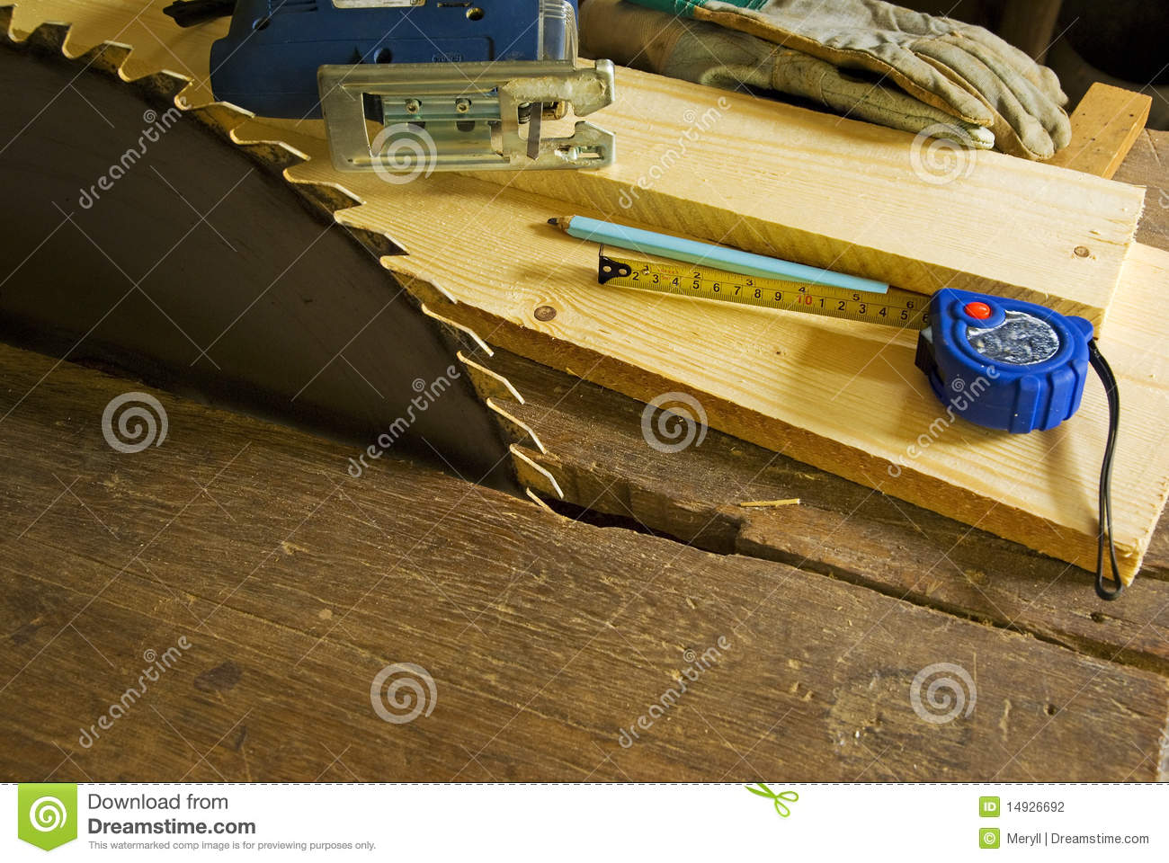 Wood Work Workshop Background Stock Photography - Image: 14926692