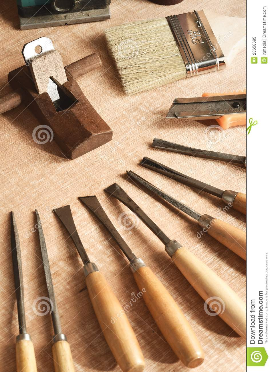 Wood Working Tools 01 Royalty Free Stock Photo - Image: 25658685