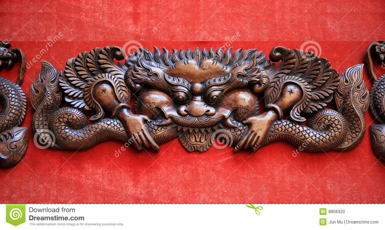 Woodcarving Dragon Stock Photo Image Of Carved Woodcarving 8806920