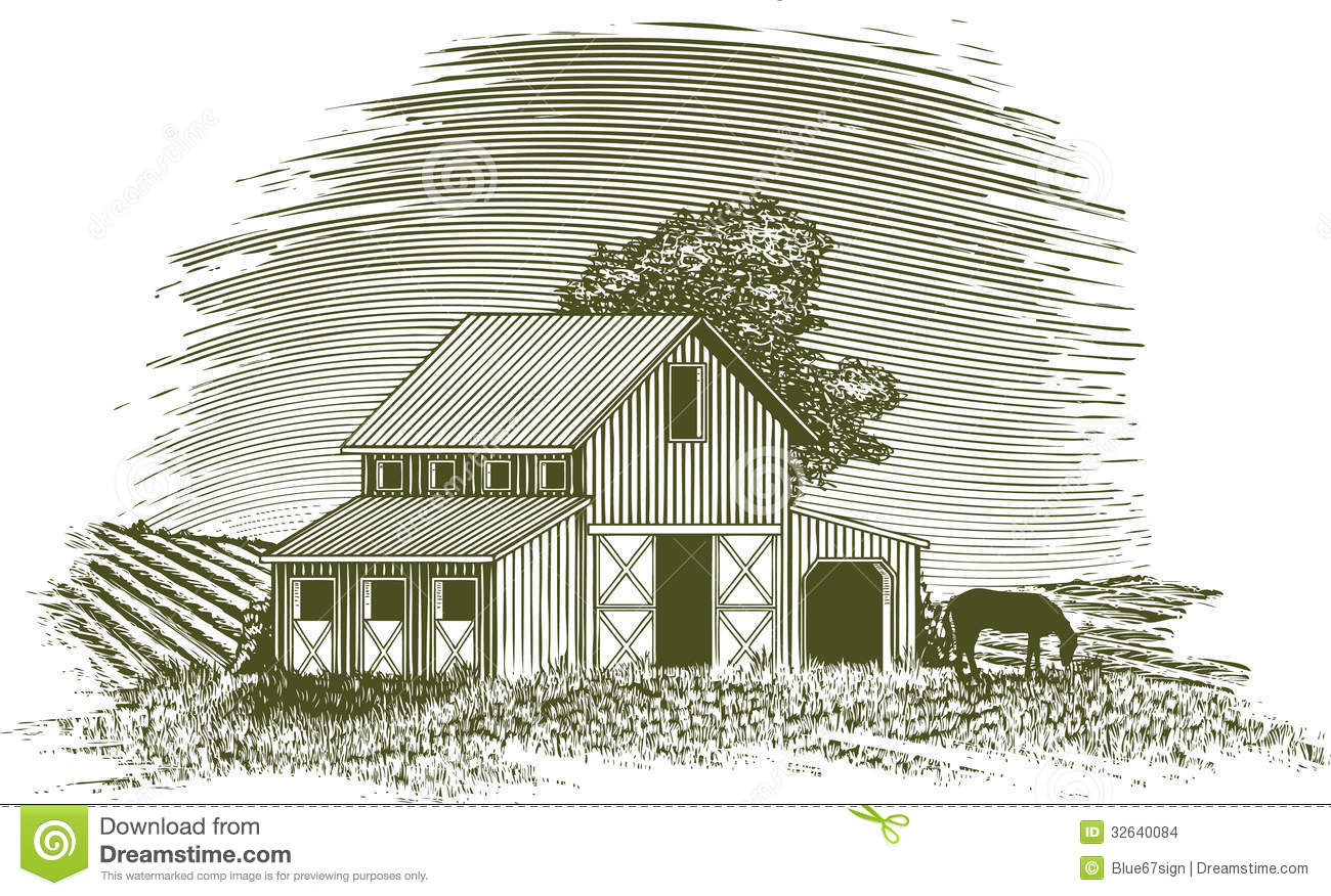 Vintage Barn Illustration