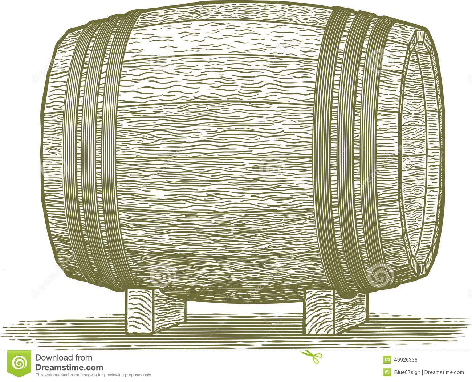 Vintage Whiskey Barrel Vector