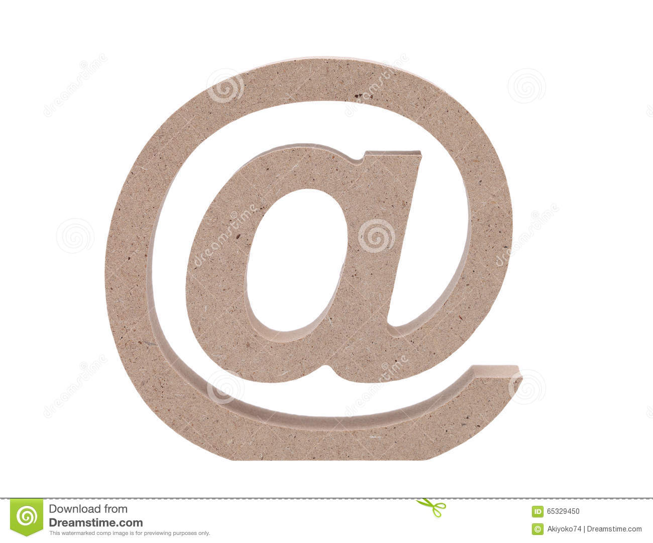 Wooded email symbol