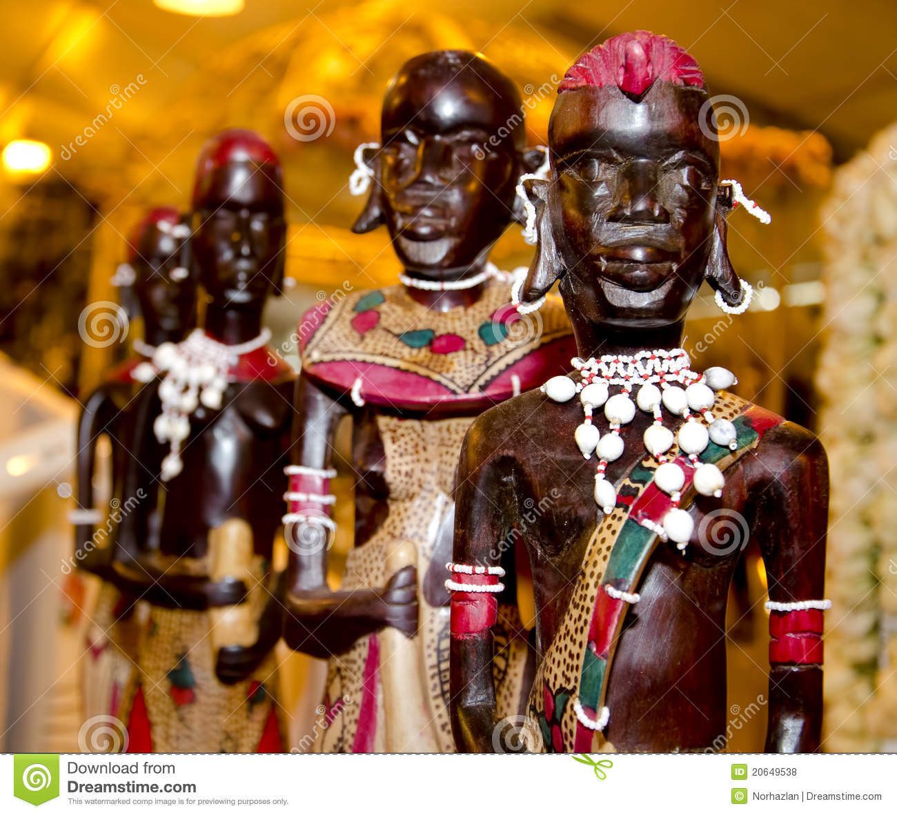 Classroom Design And Management ~ Wooden african statue royalty free stock photos image