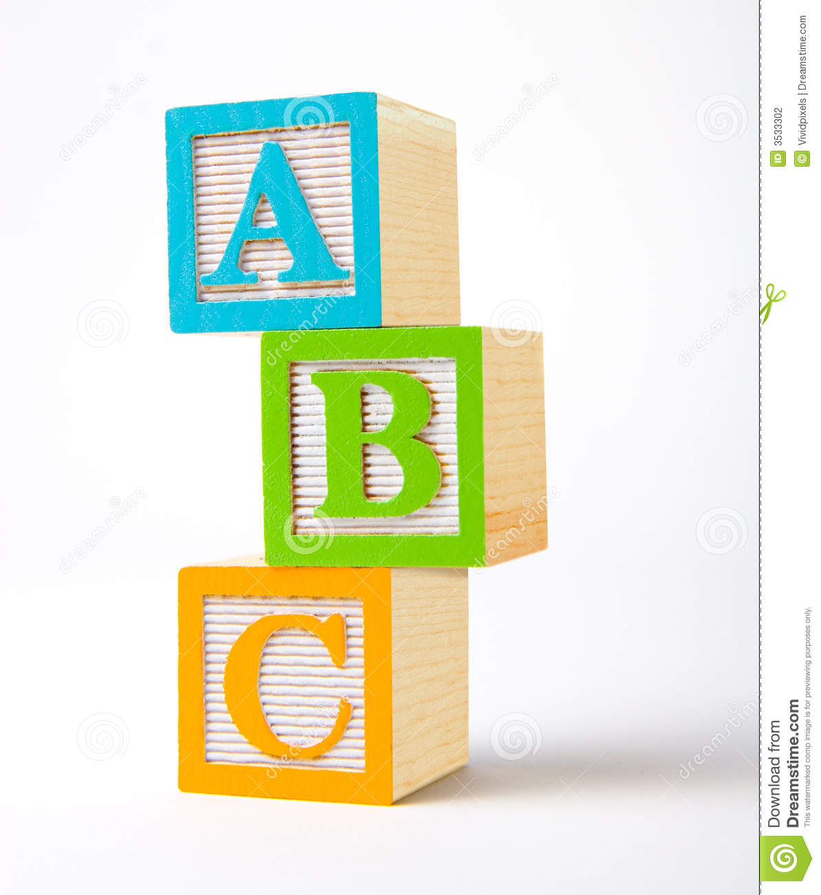 Wooden Alphabet Blocks Stock Photography - Image: 3533302