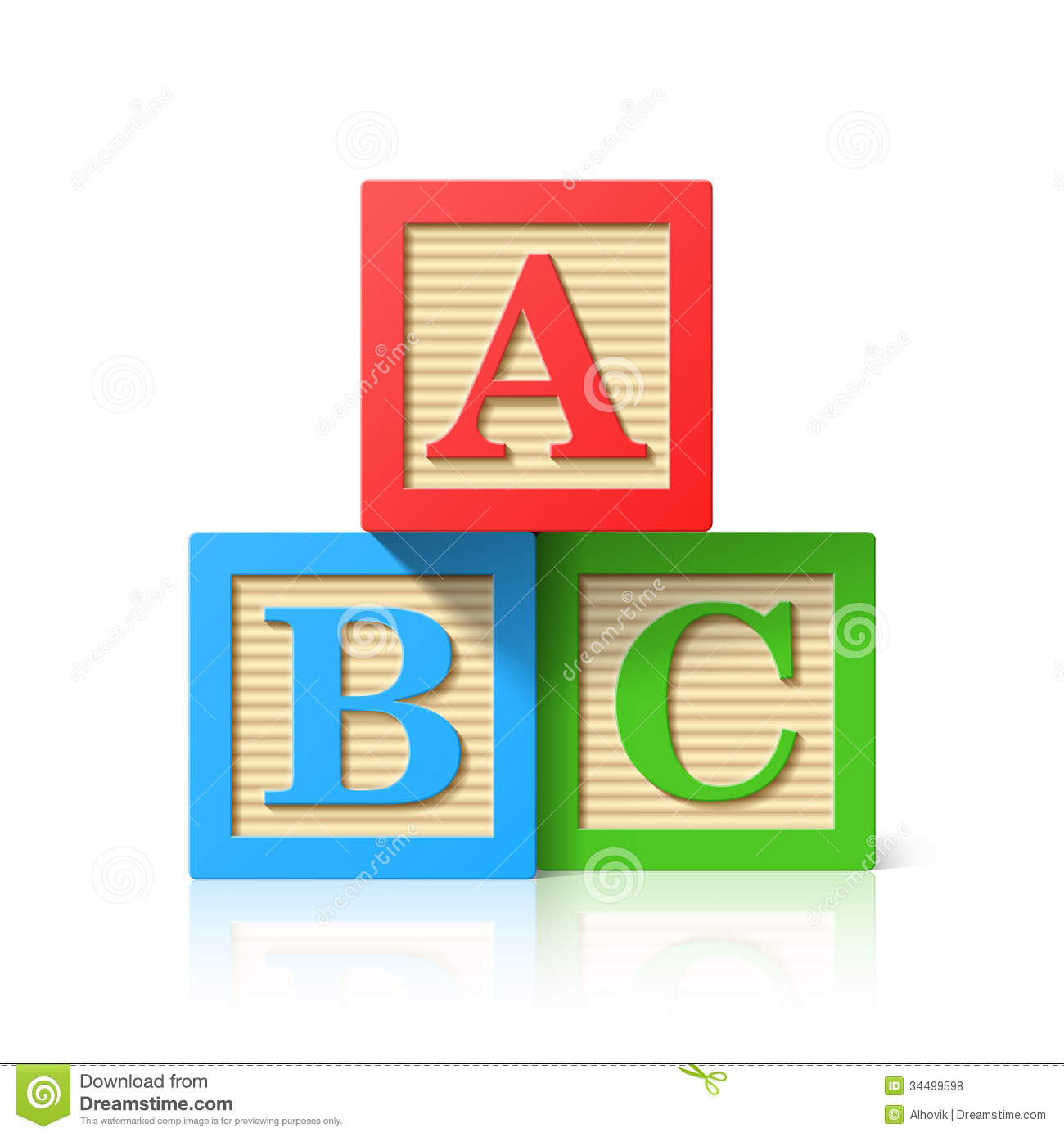 Wooden Alphabet Cubes With A,B,C Letters Royalty Free Stock Photos ...