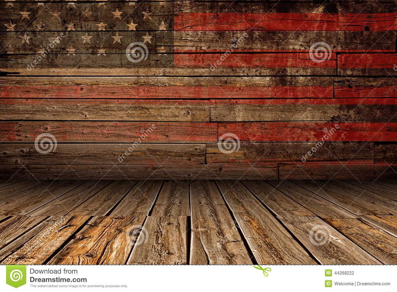 Wooden American Stage Stock Photo Image Of Rustic Board