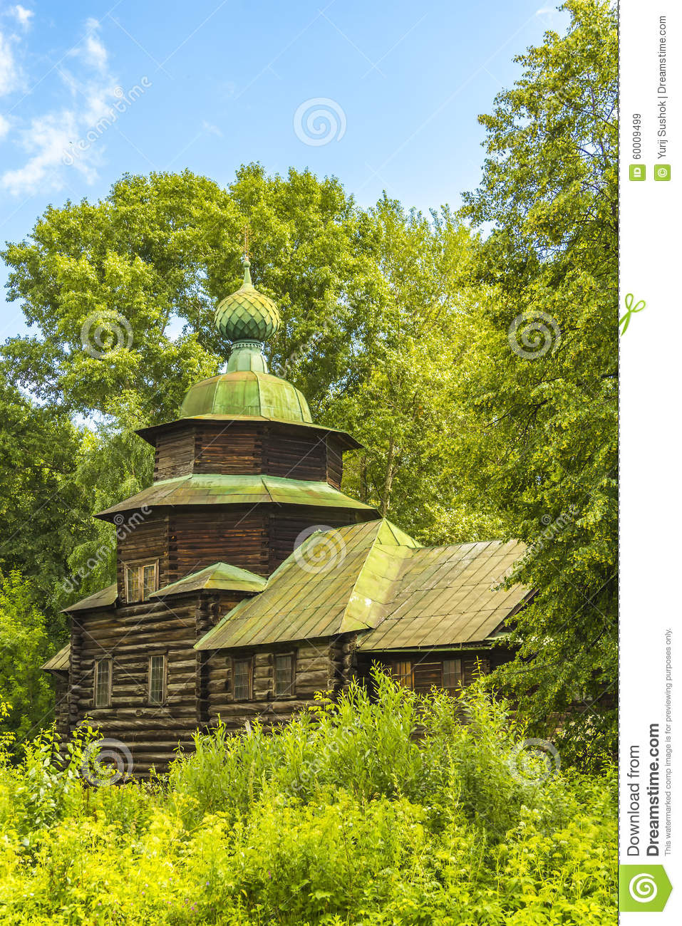 Download Wooden Architecture, The Church Of Elijah The Prophet Stock Image - Image of golden, museum: 60009499