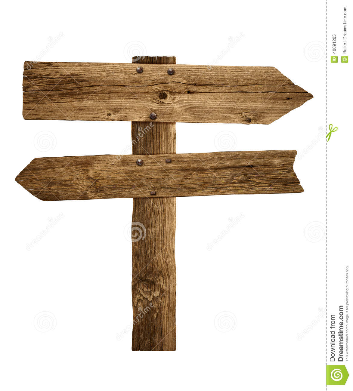 Wooden Arrow Sign Post Or Road Signpost