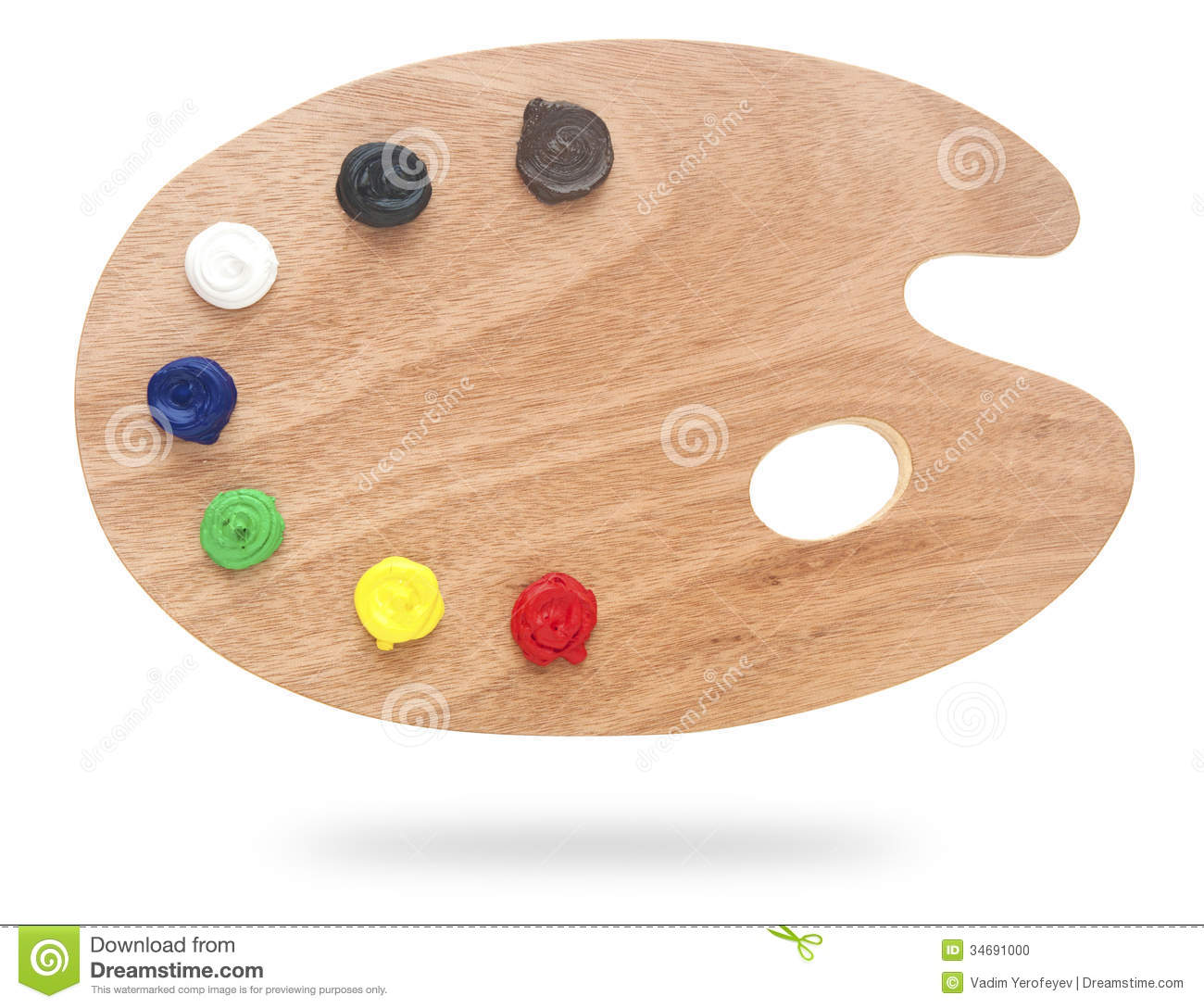Traditional Wooden Paint Palette