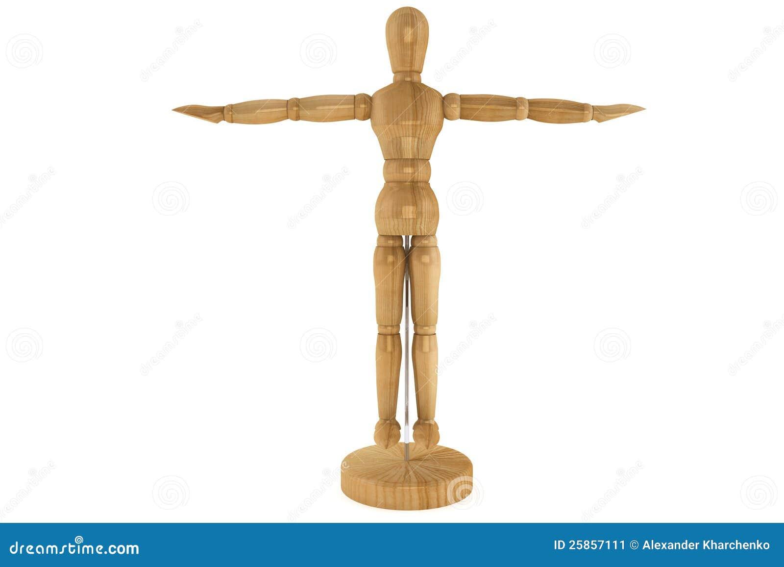 Wooden artists Mannequin