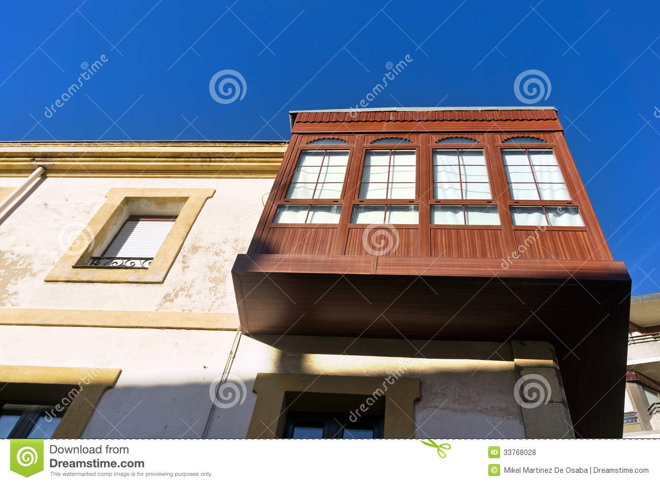 Wooden attic with windows