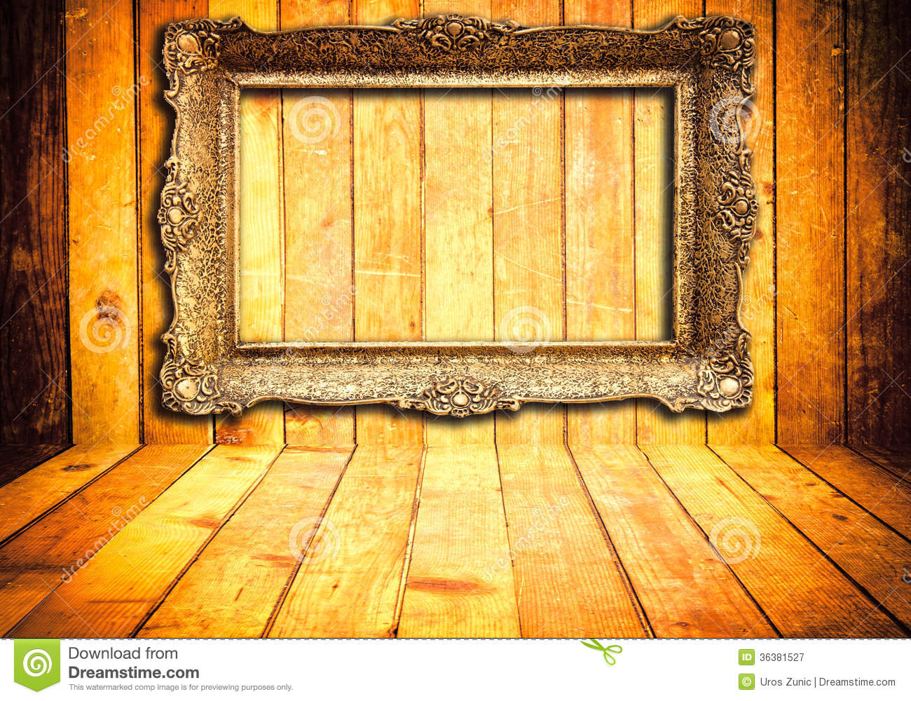 Wooden Background With Frame Stock Image Image 36381527