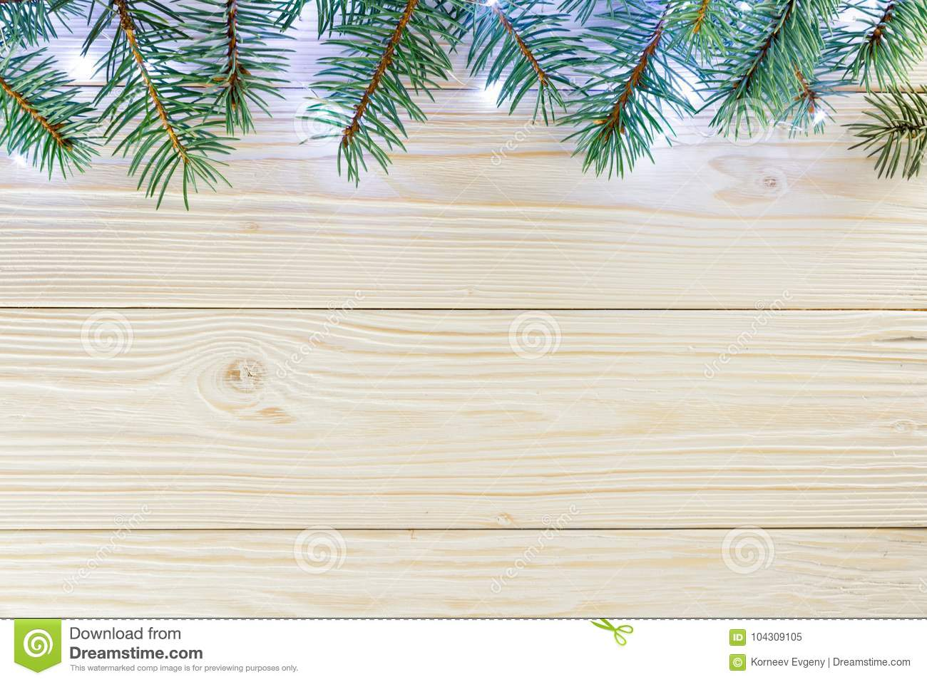Wooden Background With Frame On Top Christmas Greeting Greetin