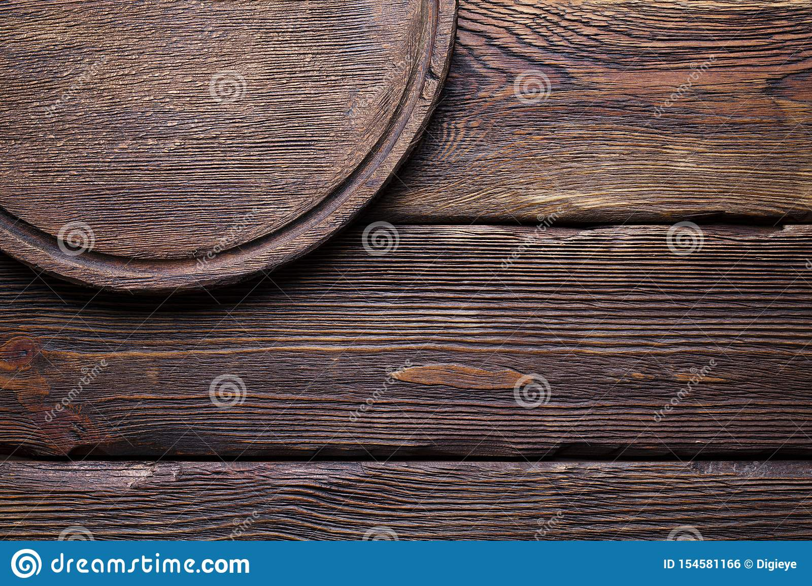 Wooden Background Round Cutting Board On Wooden Wall Background Stock Photo Image Of Plate Dish 154581166