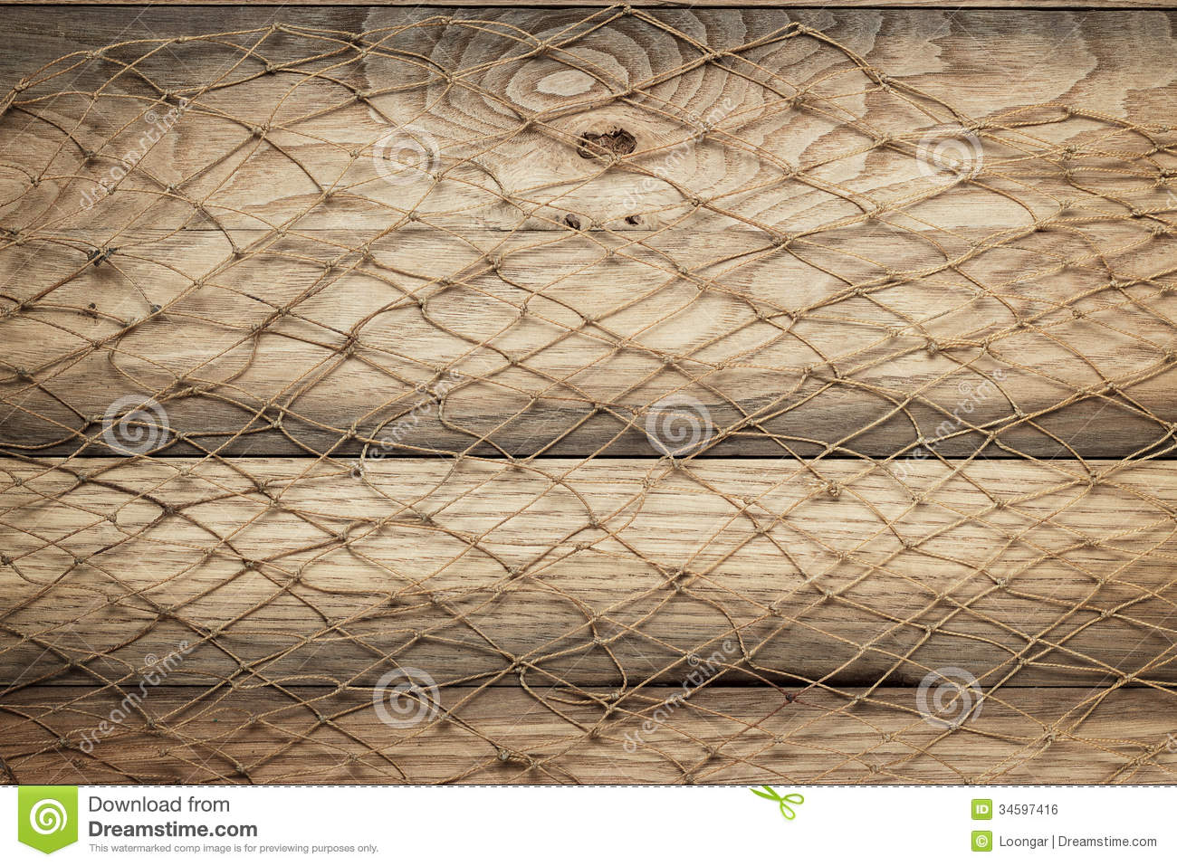 Wooden Background Texture And Fishing Net Stock Photo Image 34597416