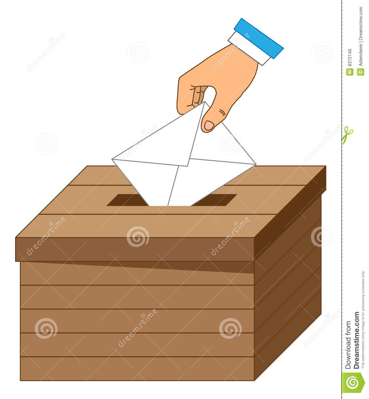 Wooden Ballot Box With A Vote Letter Stock Photo Image