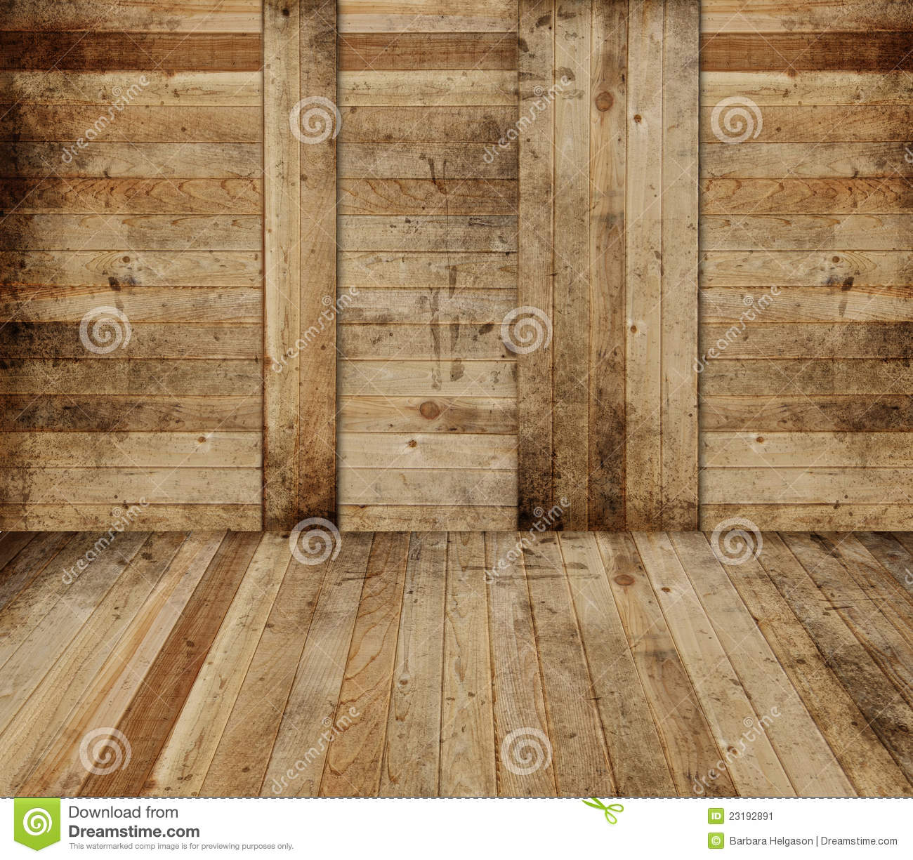 Wooden Barn Interior S...