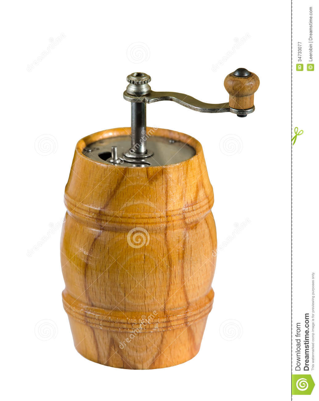 Wooden barrel pepper mill stock image image of isolated for Pepper mill plans